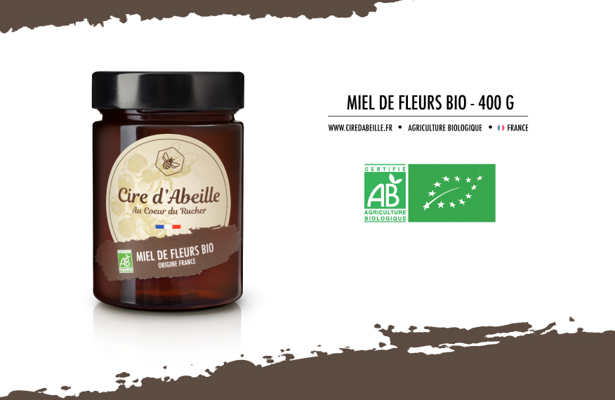 Du miel de fleurs Bio au coeur du rucher